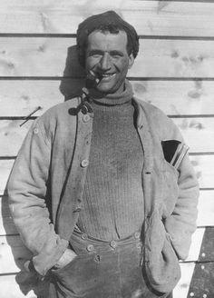 Tom Crean at Cape Evans 1912.