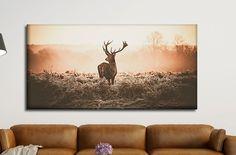 Leinwand Bild XXL / Natur / Hirsch / Wald / Geweih von MR & MRS DRUCK auf DaWanda.com