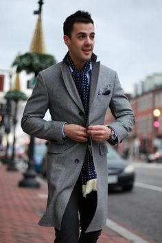 Blue and grey is an excellent color combination... especially when it is well-tailored.: