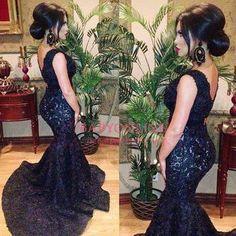 Crazy lace black dress