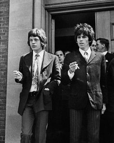 The Rolling Stones Mick Jagger Keith Richards Chichester Court 1967 11x14 HD Aluminum Wall Art