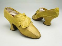 Shoes 1770, Made of silk leather and kid