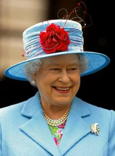 Following Queen Elizabeth's Blue Straw and Velvet Hat