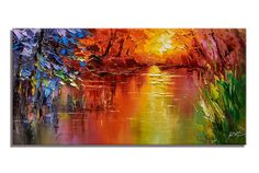 A personal favorite from my Etsy shop https://www.etsy.com/listing/556430099/oil-painting-landscape-large-wall-decor