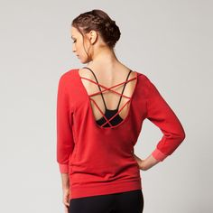 Sadie Scoop Back Pullover- Sooo soft! and in stock now at PB Homewood!
