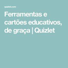 Ferramentas e cartões educativos, de graça | Quizlet