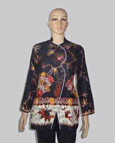 Baju Batik Wanita, Blus Batik B1335 Depan