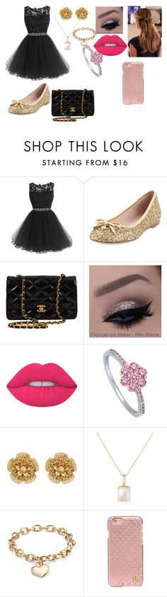 """Sem título #60"" by sarah-hellen-meireles-oliveira on Polyvore featuring moda, Kate Spade, Chanel, Lime Crime, BERRICLE, Miriam Haskell, Mia & Beverly, Blue Nile e Tory Burch"