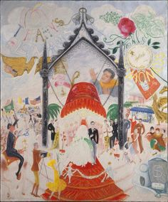 The Cathedrals of Fifth Avenue Florine Stettheimer 1931  Florine Stettheimer was an eccentric American modernist. Unlike most artists Stettheimer wasnt interested in success or fame. She often refused to show or sell her work; because her family was financially well off she didnt need to sell paintings to make money. Therefore she didnt develop much of a reputation as a painter until long after her death.  The Cathedrals of Fifth Avenue is a gently-satirical view of New York City…