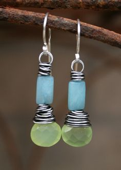 (Etsy, no longer available) Wire wrapped earrings to work from