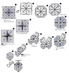 アイスキューブの折り方(3)
