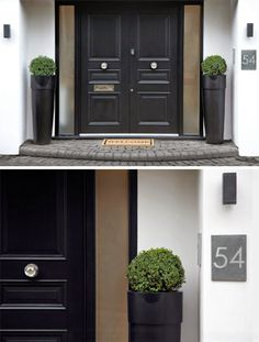 Black Double Front Doors black stained wooden single half glass modern front doors with 5