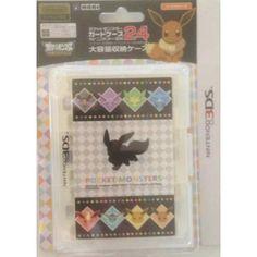 Pokemon Center 2013 Nintendo 3DS/DSiLL/DSi/DS Lite Eevee Espeon Flareon Glaceon Jolteon Leafeon Umbreon Vaporeon Game Cartridge Storage Case