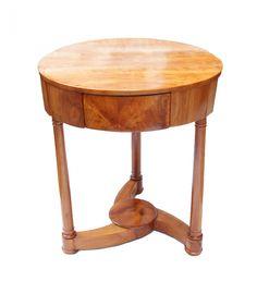 Runder Beistelltisch - Kirschbaum - Biedermeier - Antiquitäten - Antik - Möbel