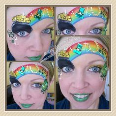 St. Patrick's Day face painting