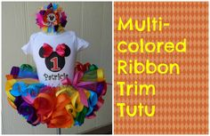 HOW TO: Make a Multicolored Ribbon Trim Tutu by Just Add A Bow She is great watch her videos very helpful!
