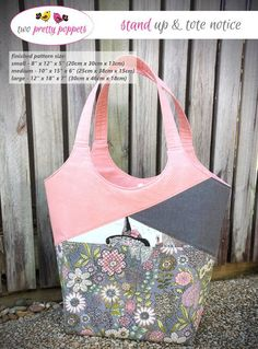 The Stand Up & Tote Notice Bag - Sew and Sell!