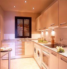 kitchen designs rectangular layout - Google Search