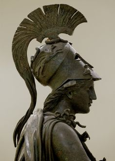 Piraeus Athena, bronze statue dated to the fourth century BCE. Currenty at Archaeological Museum of Piraeus