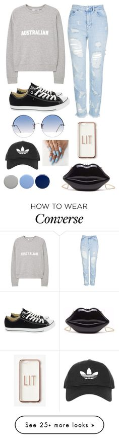 """""""Untitled #621"""" by creativegurlsrbaexoxo on Polyvore featuring Topshop, MANGO, Converse, Linda Farrow, Missguided and Burberry"""
