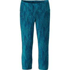 Patagonia Womens Centered Crops ($69) ❤ liked on Polyvore featuring activewear, activewear pants, blue, patagonia sportswear and patagonia