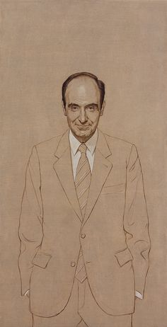 Miguel Roca y Junyent, Políptico de los Padres de la Constitución de 1978, (2008-2009) Figure Drawing, Line Drawing, Artist Point, Colored Pencil Portrait, Face Study, Henri De Toulouse Lautrec, Toned Paper, Spanish Artists, Beautiful Artwork