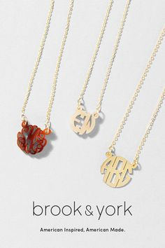 Featured on Elle.com. brook&york signature jewelry collection with Free Shipping and personalization. American inspired and made in the USA. #fashion