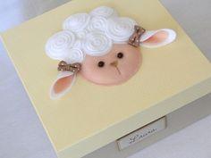 Caixa Lembrancinhas Maternidade Ovelha