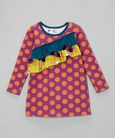 Loving this Purple Polka Dot Millie Dress - Infant, Toddler & Girls on #zulily! #zulilyfinds