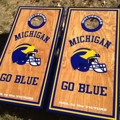 University Of Michigan custom made cornhole boards/baggo/corn hole  from Great lakes Cornhole for $179 on Square Market