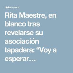 """Rita Maestre, en blanco tras revelarse su asociación tapadera: """"Voy a esperar…"""