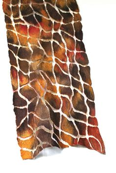 Nuno Felted Wrap   The veins are what elevate its design