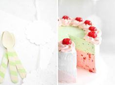 Sprinkle Bakes: Spumoni Mousse Cake (good resource for making mousse cakes of any flavor)