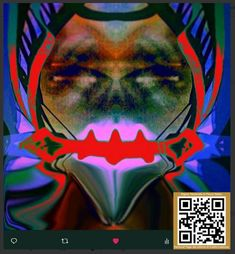"""Try to think different, my art is not more physical and comes directly from the deep space. Am a sort of Alien for the normal thought. This is titled:  """"Sadomasochism tweet from space"""""""