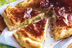 Käse-Pie mit Schinken und Zucchini Rezept