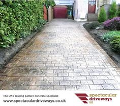 Pattern Imprinted Concrete Driveways, Patios, Paths, Steps and Walls, UK | Decorative Pattern Imprinted Concrete Specialists | Spectacular Driveways UK