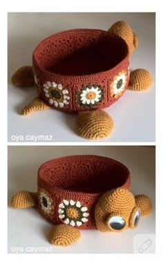 amigurumi-crochet basket , örgü tığ işi sepet ,крючком корзины ,canasta de ganchillo ,crochet panier - All Hair Styles Crochet Box, Crochet Amigurumi, Cute Crochet, Crochet Crafts, Yarn Crafts, Crochet Home Decor, Crochet Projects, Diy And Crafts, Knit Basket