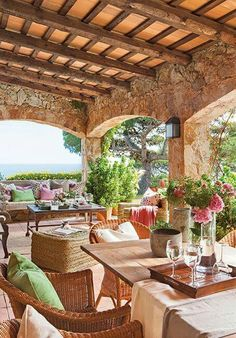 Pergola For Small Patio Code: 1790157252 Outdoor Rooms, Outdoor Living, Outdoor Decor, Outdoor Life, Porch And Terrace, Hacienda Style, Mediterranean Homes, Tuscan Style, Stone Houses