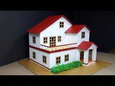 How To Make A Beautiful Cardboard Mansion House with Fairy Garden - Popsicle Stick Crafts - YouTube #howtobuildabirdhouse