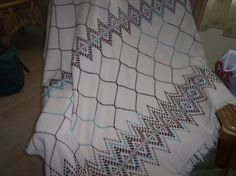 My second blue and brown swedish weaving pattern