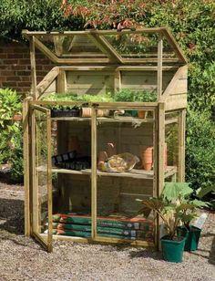 serre de jardin diy bois idée bricolage