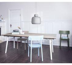 Split Spisebord - Spisebord med hvidmalet asketræ