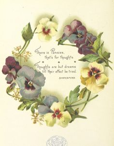 Pansies for Thoughts, culled from the garden of literature