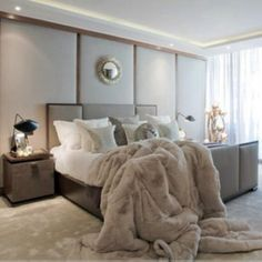 Faux fur for bedding