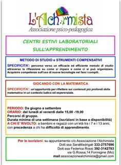 centri estivi laboratoriali sull'apprendimento a Formigine