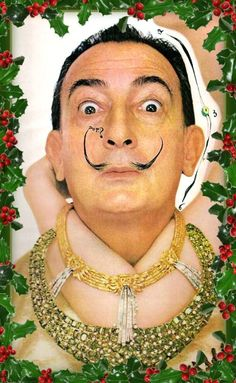 Salvador Dali's Christmas cards, which were apparently never released in the States!