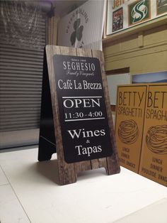 SIGNS par excellence sign company designed and fabricated this sandwich board for SEGHESIO winery in Healdsburg, CA.