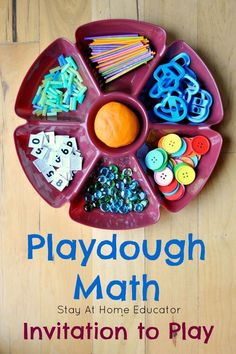 So much learning takes play with this simple playdough math invitation to play! Preschoolers love learning how to count and learn number identification with an invitation to play with playdough. It's good sensory play, too! Playdough Activities, Counting Activities, Infant Activities, Math Games, Activities For Kids, Number Games, Play Based Learning, Learning Through Play, Early Learning