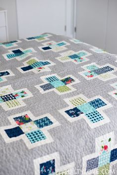 Quilty Love | Plus Squared Quilt Pattern | http://www.quiltylove.com