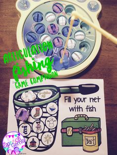 My kids love playing fishing games. This game companion targets initial and final articulation sounds. Great way to end the summer.